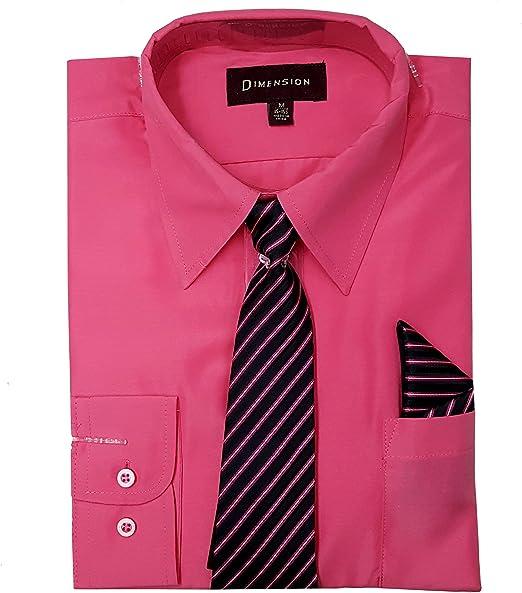 Dimension - Camisa de vestir de color sólido con botones y ...