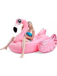 JOYIN Giant Inflatable Luxurious Flamingo Pool Float, Fun Beach Floaties,  Swim Party Toys,