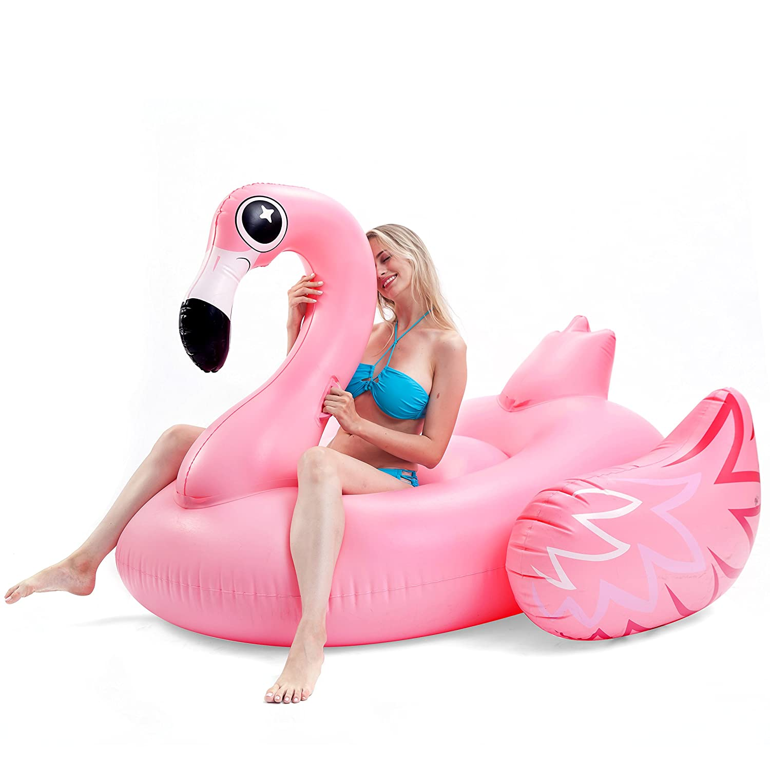 Peachy Joyin Giant Inflatable Luxurious Flamingo Pool Float Fun Beach Floaties Swim Party Toys Pool Island Summer Pool Raft Lounge For Adults Kids Creativecarmelina Interior Chair Design Creativecarmelinacom