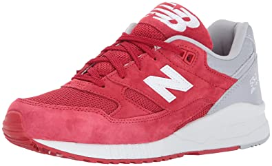 11c7524cc5650 New Balance Men's 530 90s Running Lifestyle Fashion Sneaker, Red/Grey, ...