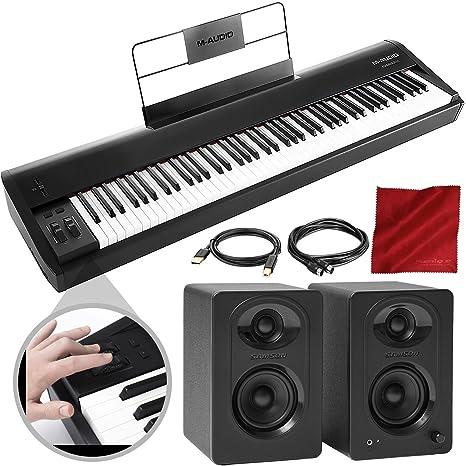 M-Audio Hammer 88 88 teclado USB/MIDI con monitor de estudio ...