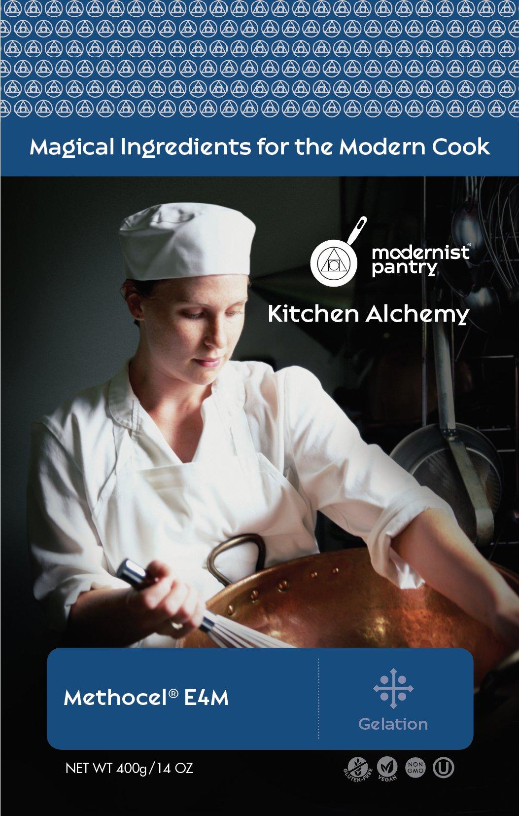 Methylcellulose - Methocel E4M (Molecular Gastronomy) ⊘ Non-GMO ☮ Vegan ✡ OU Kosher Certified - 400g/14oz by Modernist Pantry