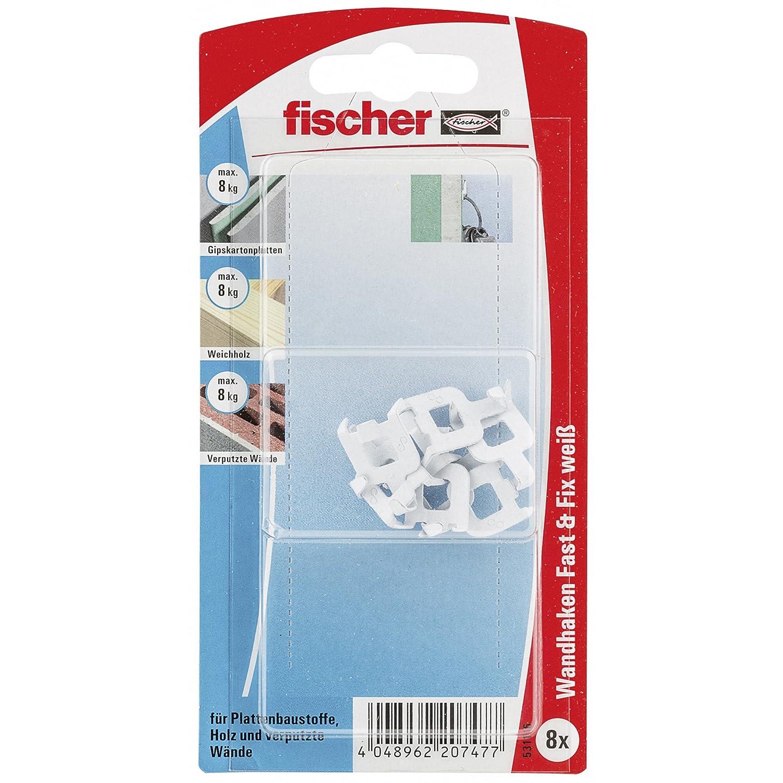 Fischer Fast und Fix SB-Karte, Inhalt: 8 x Fast plus amp, weiß , 531116 Fischerwerke GmbH & Co. KG
