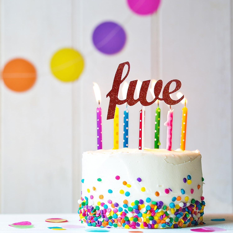Amazon Five Cake Topper 5th Birthday Fifth Handmade