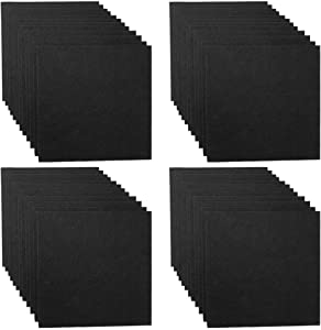 48 Pack Set Acoustic Absorption Panel, 12 X 12 X 0.4 Inches Black Acoustic Soundproofing Insulation Panel Tiles, Acoustic Treatment Used in Home & Offices