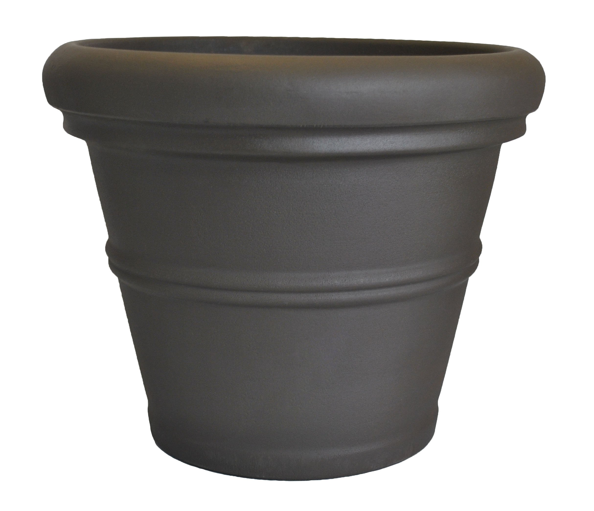 Tusco Products RR30ES Rolled Rim Garden Pot, 30-Inch, Espresso by Tusco Products