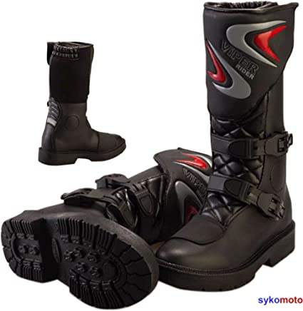 Moto wulfsport Kids MX Enduro Bottes de motocross moto Sport Racing Bottes Noir noir UK 5 EU 38