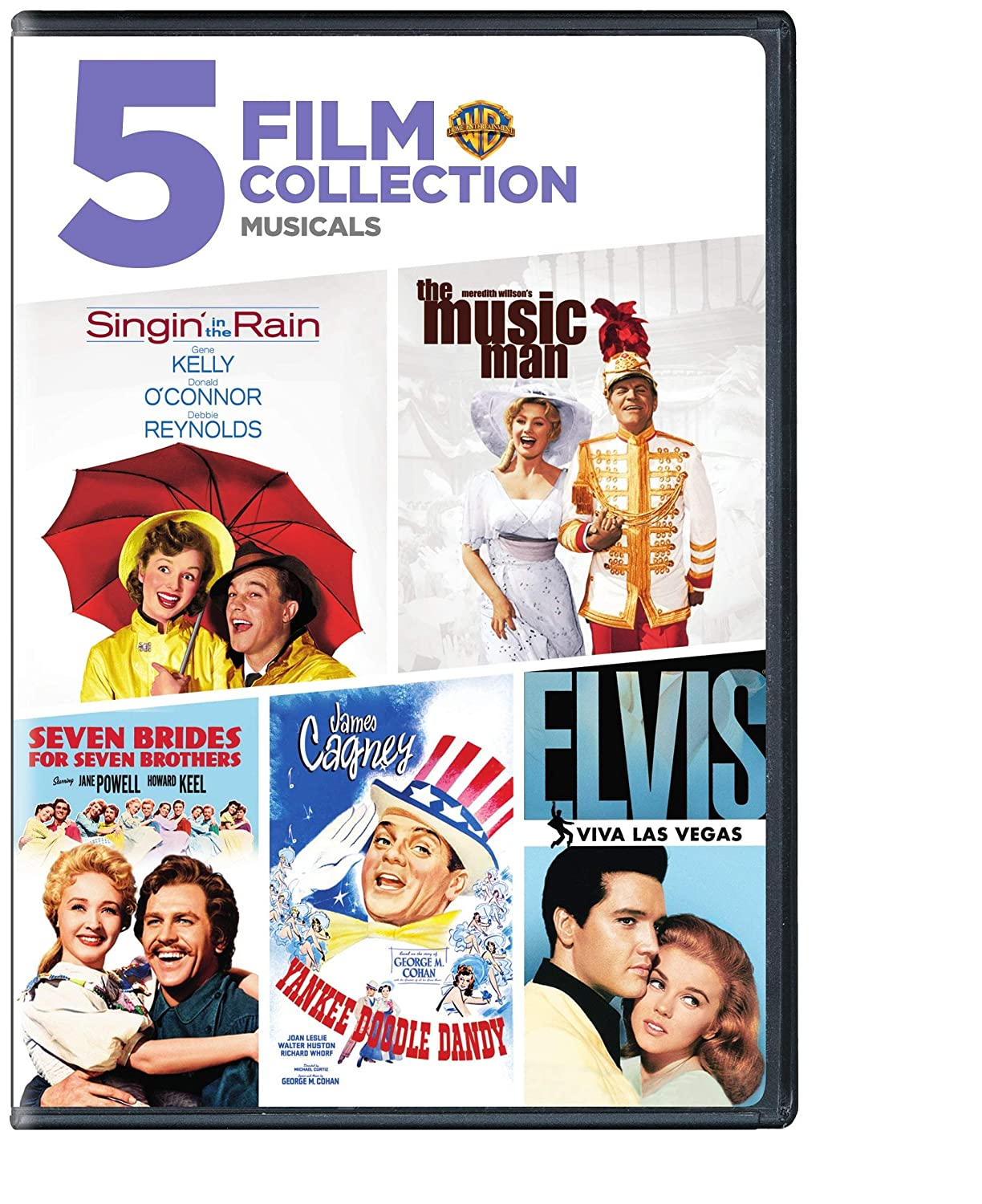 Amazon.com  Singin  in the Rain   The Music Man   Seven Brides For Seven  Brothers   Yankee Doodle Dandy   Elvis-Viva Las Vegas (5 Film Collection  Musicals)  ... a8246c85e54f9