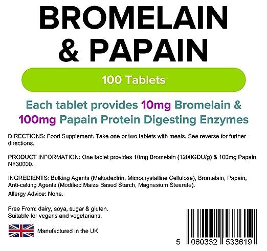 Lindens Bromelina y papaína 10/100 en comprimidos | 100 ...