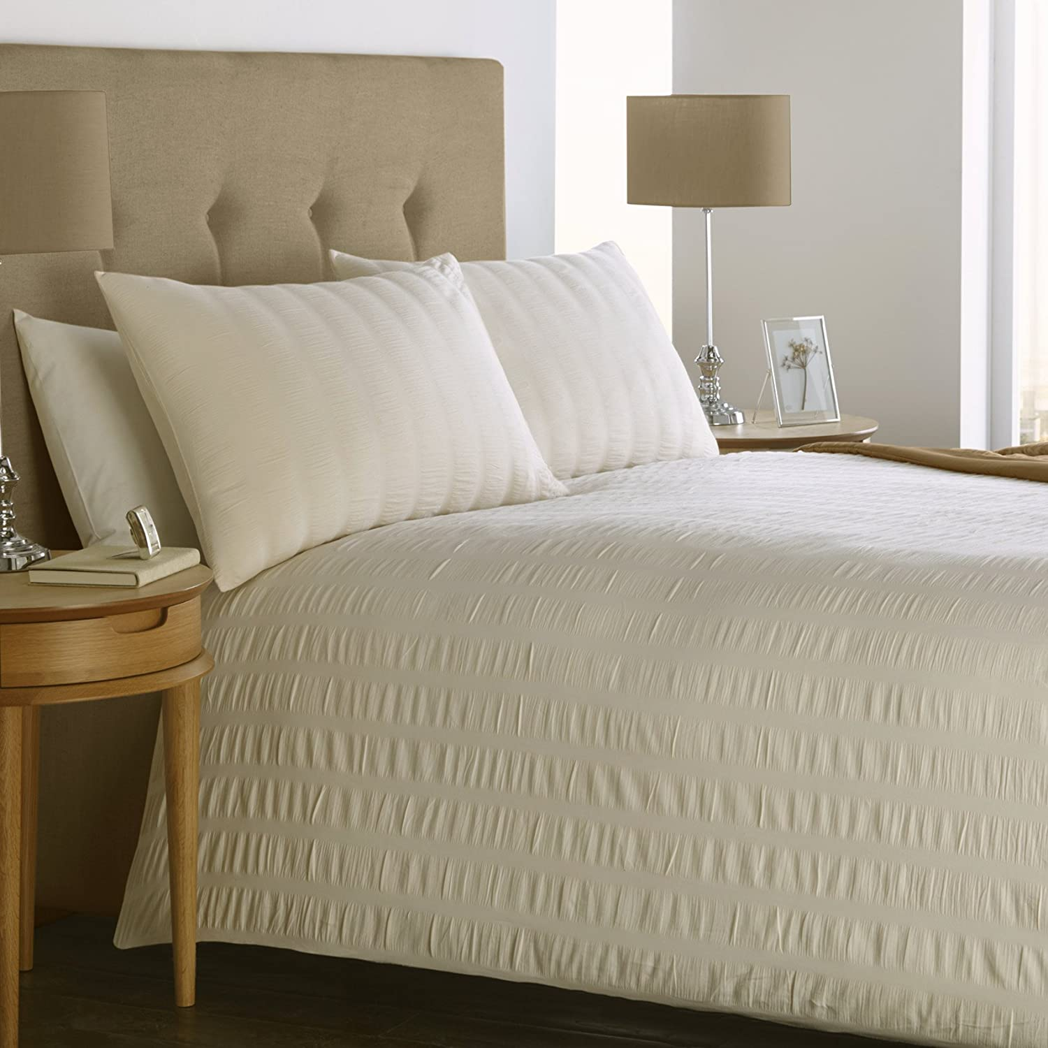 Mason gray seersucker 100 cotton 200 thread count bedding for High thread count bed sheets