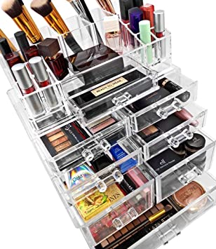 Sorbus Acrylic Cosmetics Makeup And Jewelry Storage Case Display Sets  U2013Interlocking Drawers To Create Your