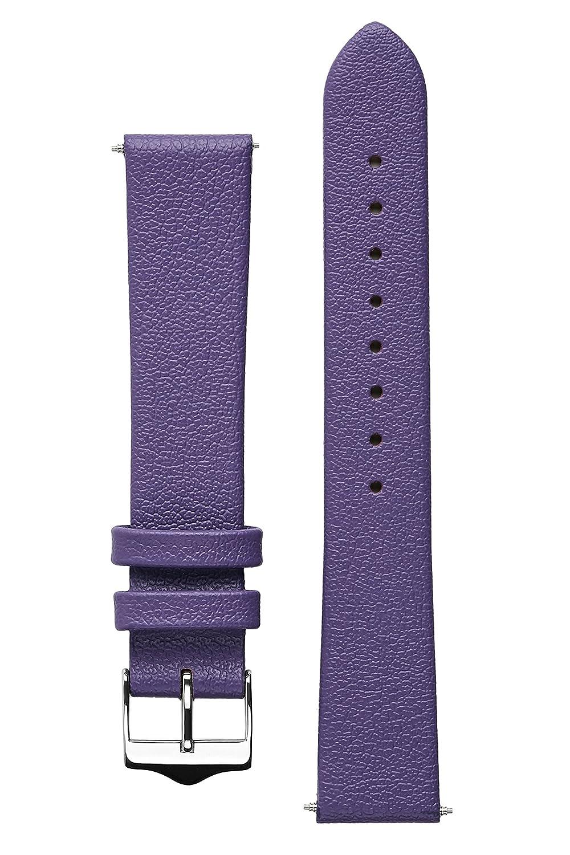 (シグネチャー) Signature トロピコ腕時計バンド交換用時計ストラップ。本革製。スチールバックル。 18 mm パープル 18 mm|パープル パープル 18 mm B01NADW4FH