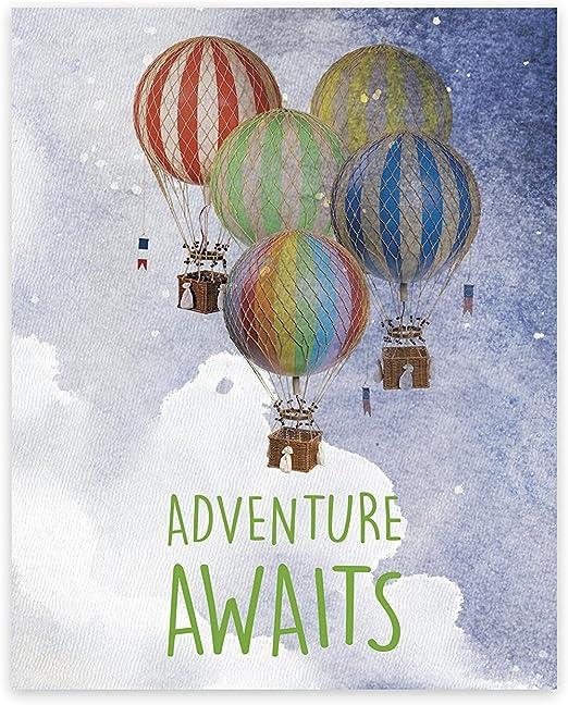 Adventure Awaits Mountain Quote Black White Nursery Print Geometric Picture Art