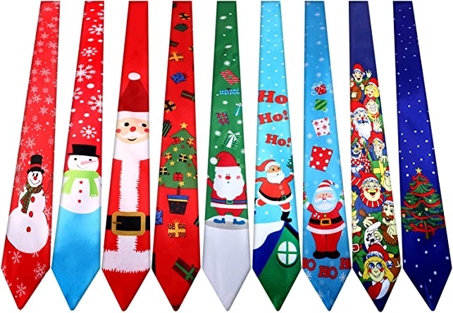 New AMERICAN TRADITIONS Christmas Gifts Santa Holidays Novelty Neck Tie Necktie