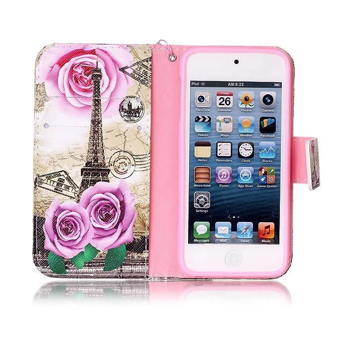 Funda para iPod 6G, iPod Touch 5 G, de piel, de ikasus® con ...