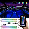 4-Piece ADOLBO Interior Car Multi Color LED Lights Strip