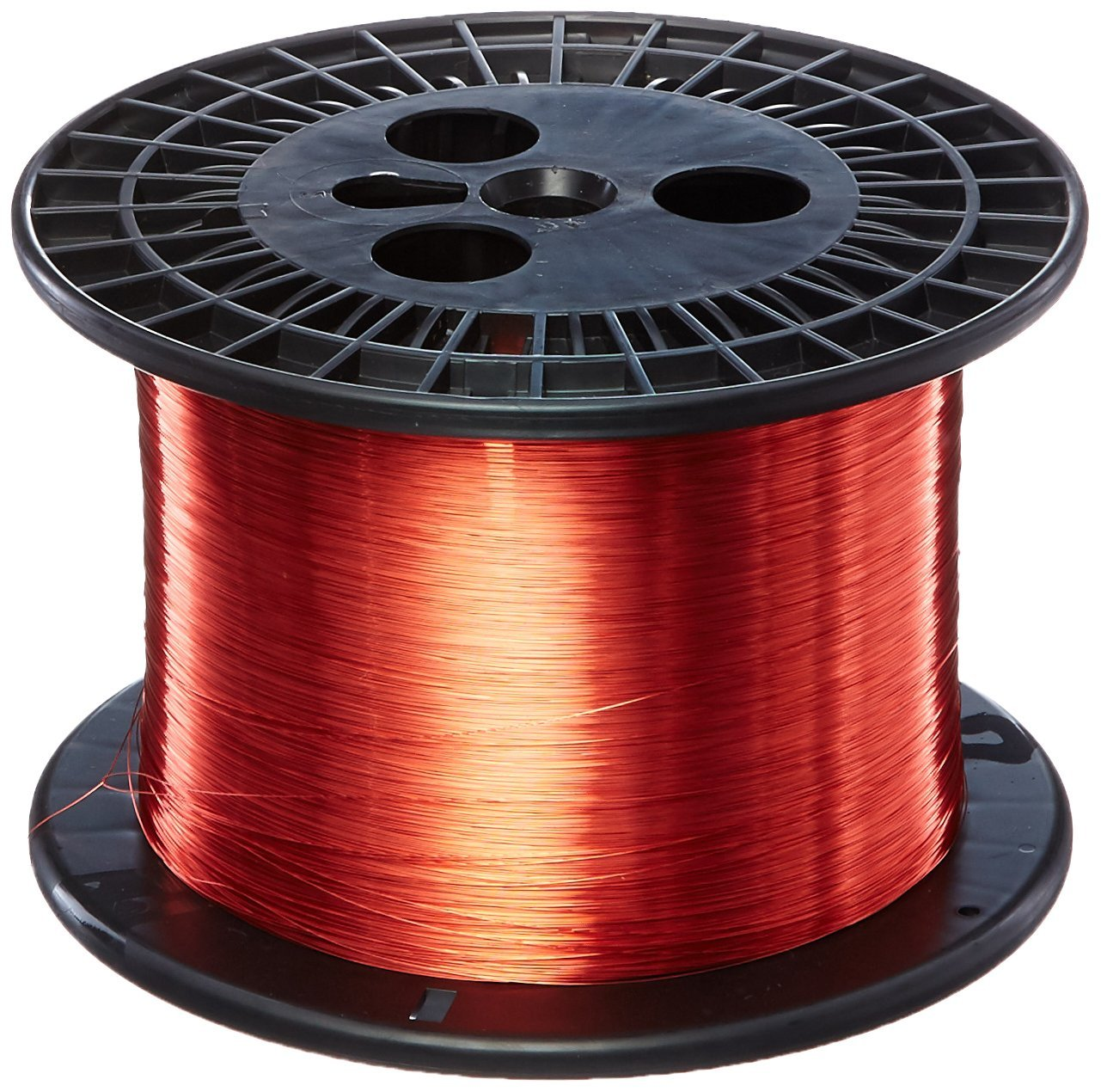 Remington Industries 32SNS 32 AWG Magnet Wire, Enameled Copper Wire, 5.0 lb, 0.0087'' Diameter, 25015' Length, Red