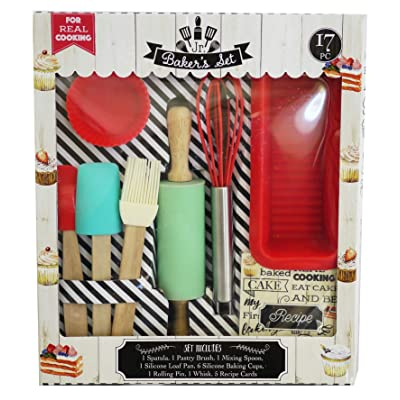 Handstand Kids 17-Piece Junior Baking Set with Recipes for Kids: Toys & Games