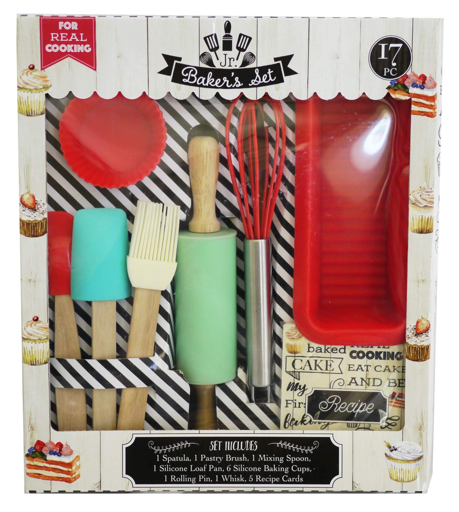 Handstand Kids 17-Piece Junior Baking Set with Recipes for Kids by Handstand Kids