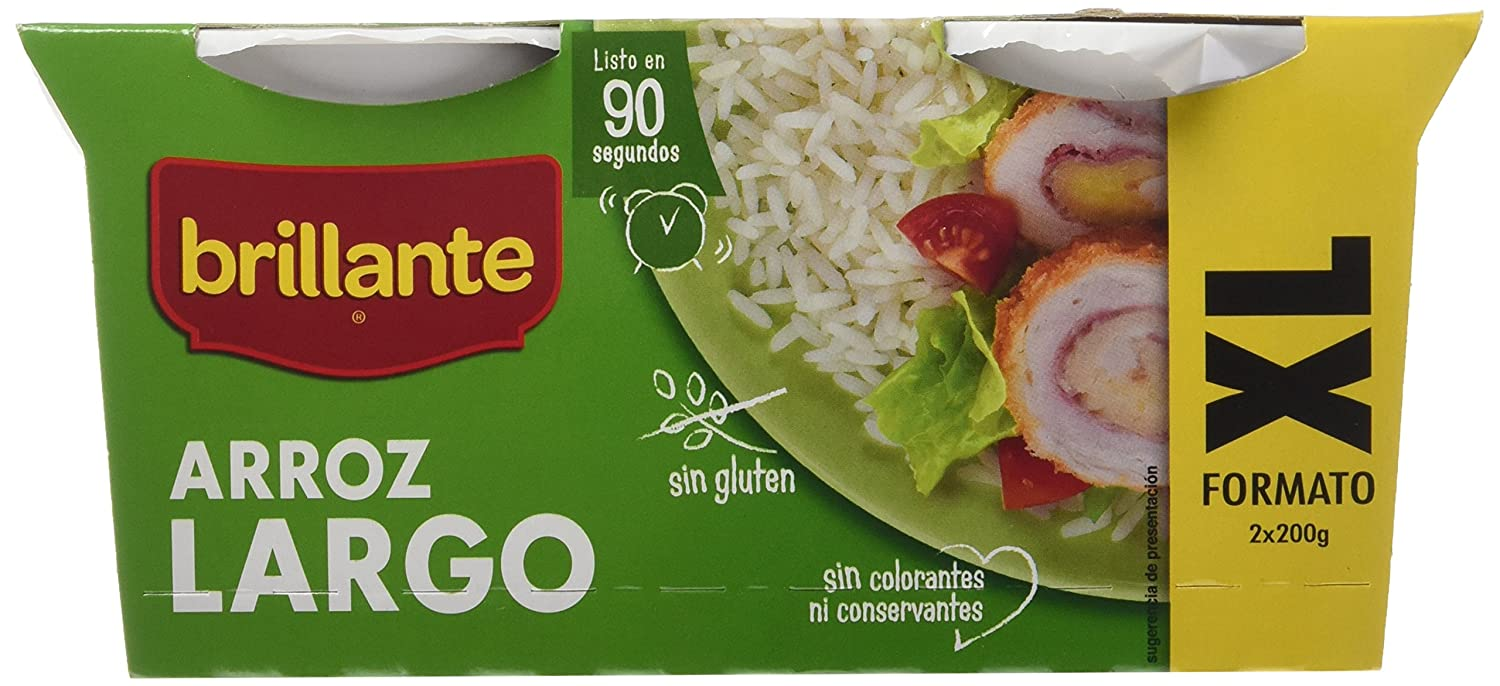 Arroz Largo XL - Pack de 2 x 200 g - Total: 400 g: Amazon.es: Amazon Pantry