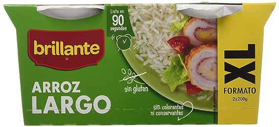 Brillante Plato Preparado. Arroz Largo XL - Pack de 2 x 200 g - Total: 400 g: Amazon.es: Amazon Pantry