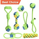 Whoobee Rope Dog Chew Toys for Small Medium Dog - Cotton Tug of War Balls Frisbee Dog Bones for Dogs Stress - Free Training