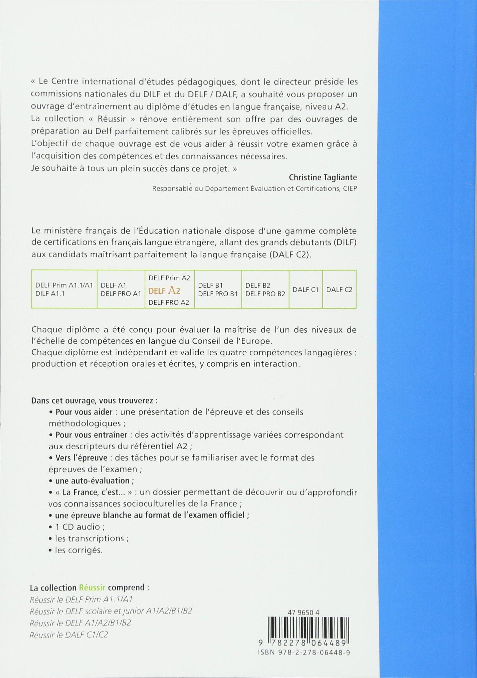 Reussir Le Delf Edition: Livre A2 & CD Audio (French Edition)