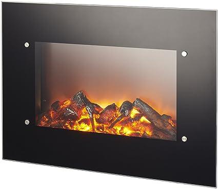 chimenea eléctrica de pared Ruby Fires Varese potencia 0 – 1200 – 1800 W con efecto