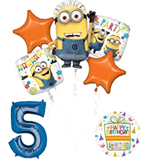 Despicable Me 3 Minions 5th Birthday Party Supplies And Balloon Decorations