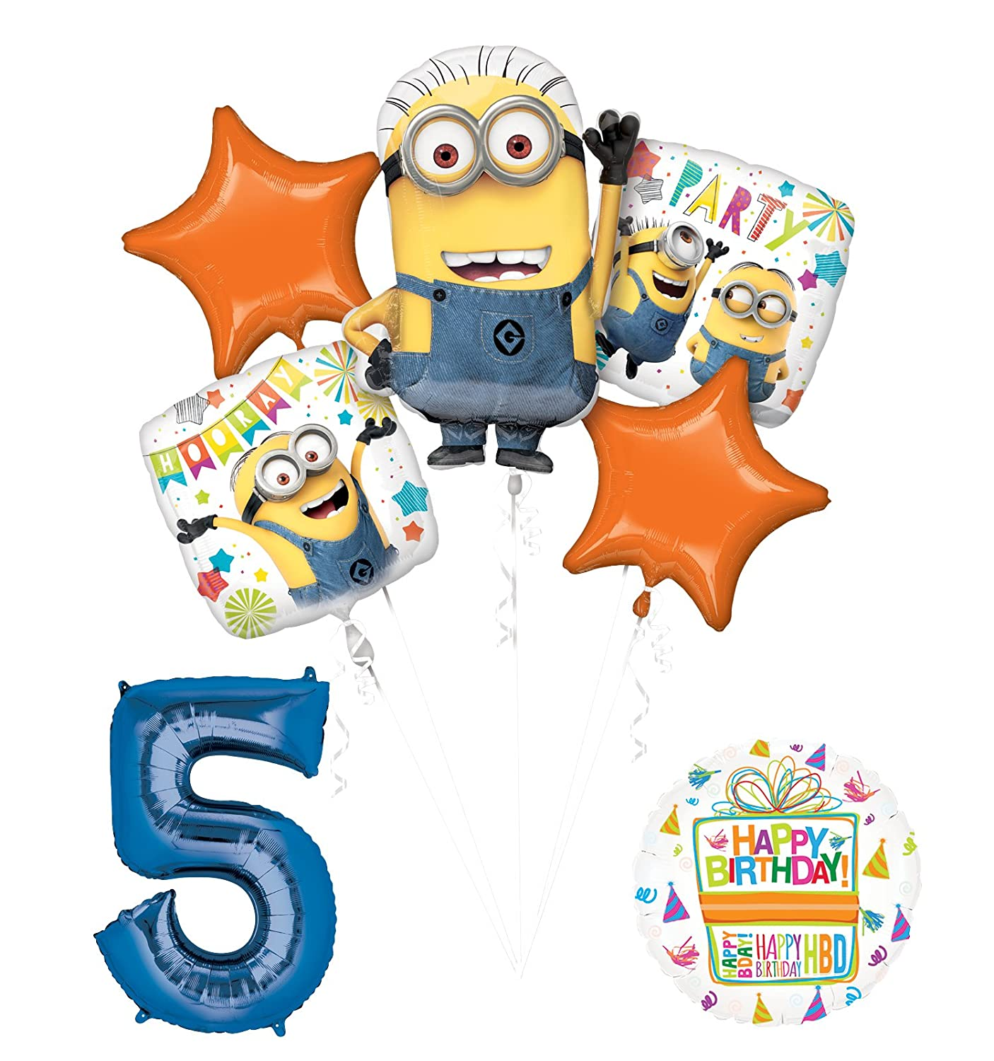 detailed look 6c827 e041d DESPICABLE ME MINIONS 2ND BIRTHDAY BALLOONS BIRTHDAY PARTY ...