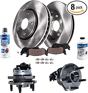 Fits: 2003 03 2004 04 2005 05 Chevy Venture FWD Models KT094441 OE Series Rotors + Ceramic Pads Max Brakes Front Premium Brake Kit