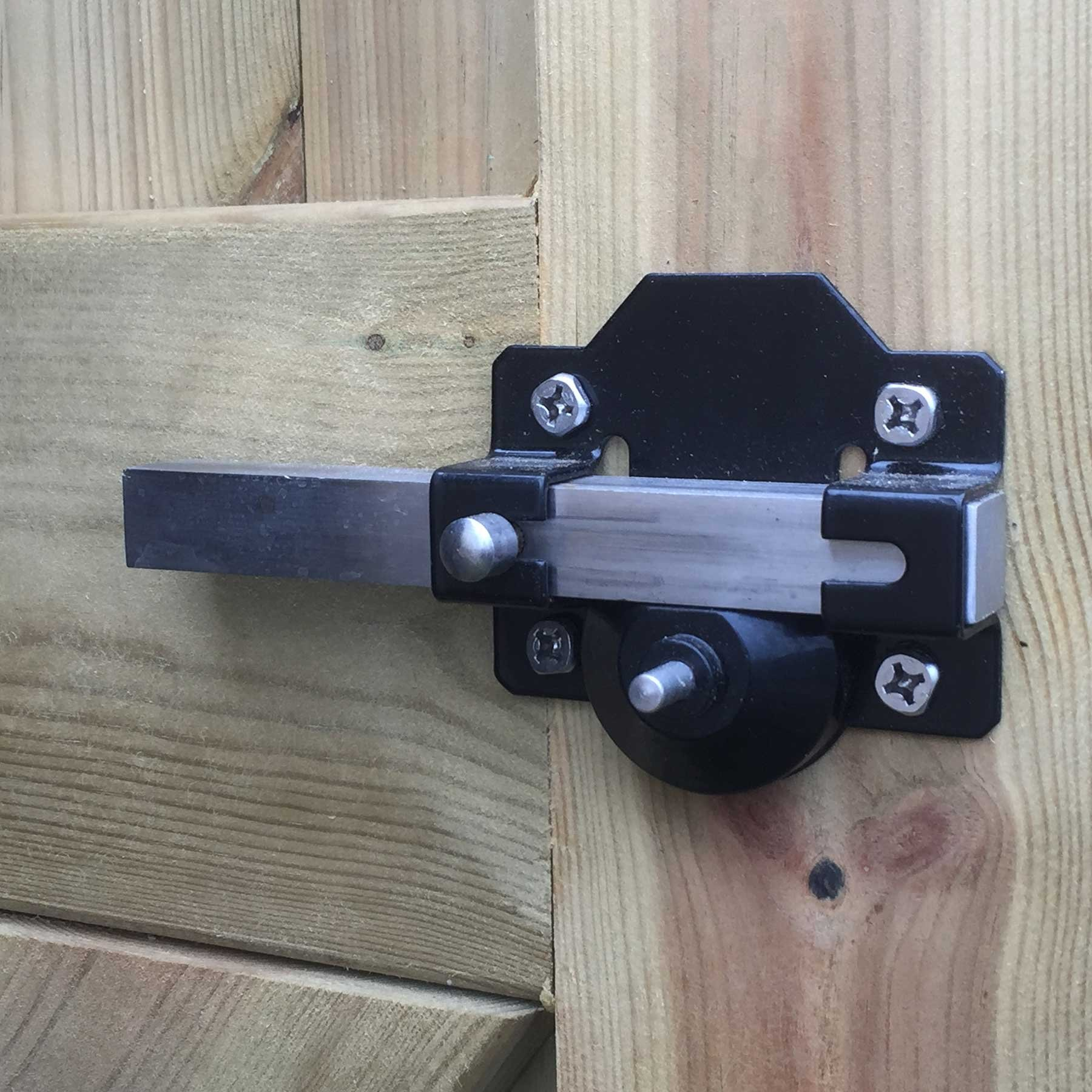 Gatemate Security Garden Shed Gate Lock Long Throw Bolt Double Locking /& Handle