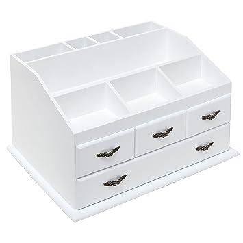 Amazon.com: Shabby Chic White Wood 8 Trays 4 Storage Drawers ...