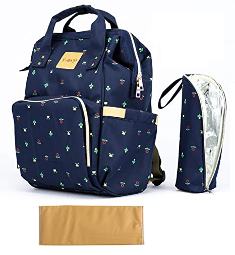 b5aed20ecce74e Buy T-Bags Mommy and Baby Large Capacity Floret Backpack Diaper Bag-MB17B-Blue  Online at Low Prices in India - Amazon.in