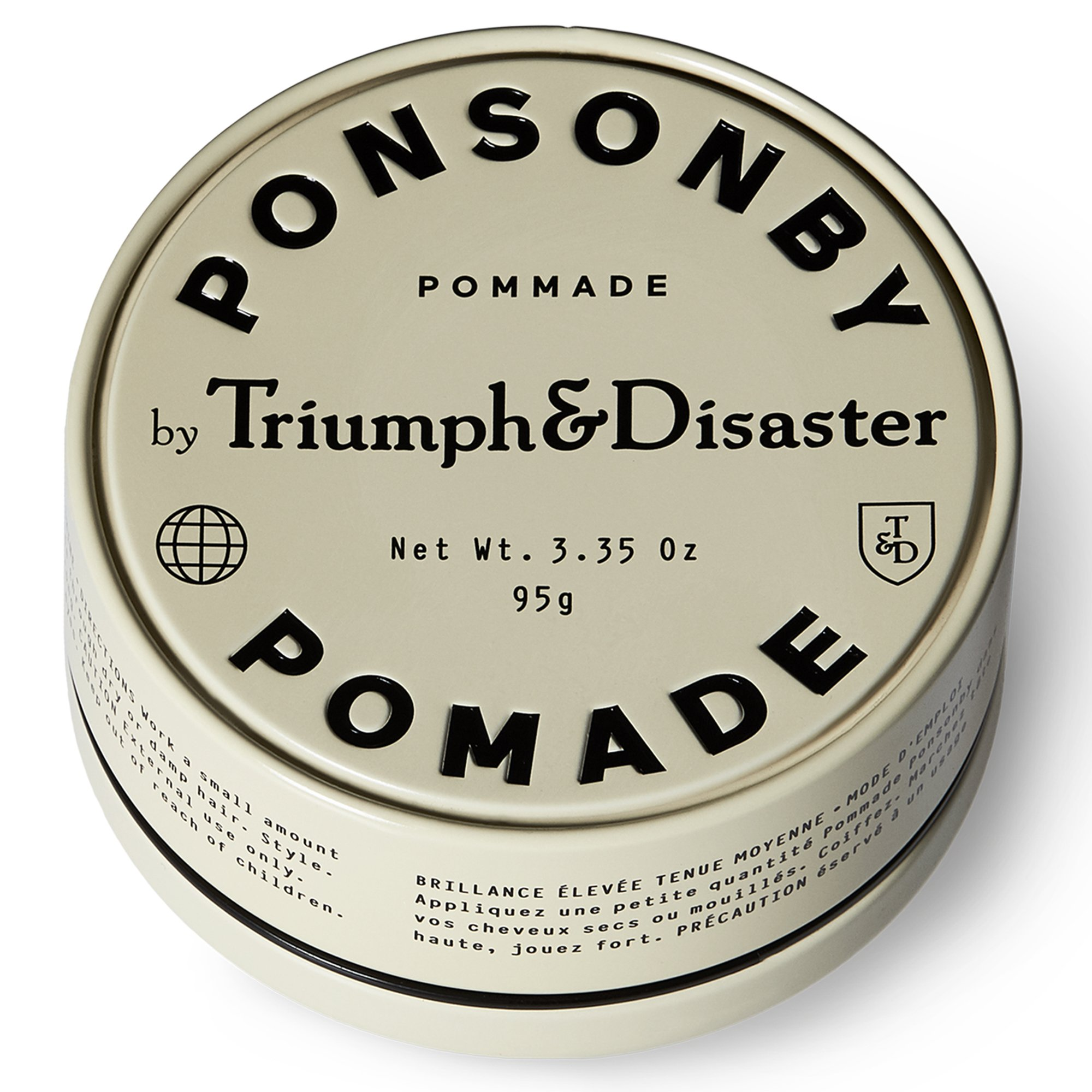 Triumph & Disaster Ponsonby Pomade 3.35oz - Medium Hold Non-Greasy High-Shine Petroleum-Free Hair Pomade with Nourishing Dragon͛s Blood, Harakeke, and Argan Oil by TRIUMPH & DISASTER