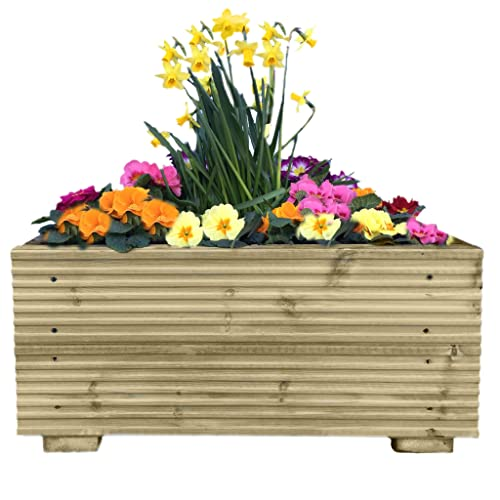 Large Corner L Shaped Wooden Garden Planter Box Trough: Forest Caledonian Tiered Raised Bed: Amazon.co.uk: Garden