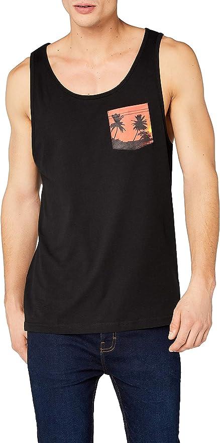 TALLA S. Urban Classics Contrast Pocket Jersey Big Tank Camiseta sin Mangas para Hombre