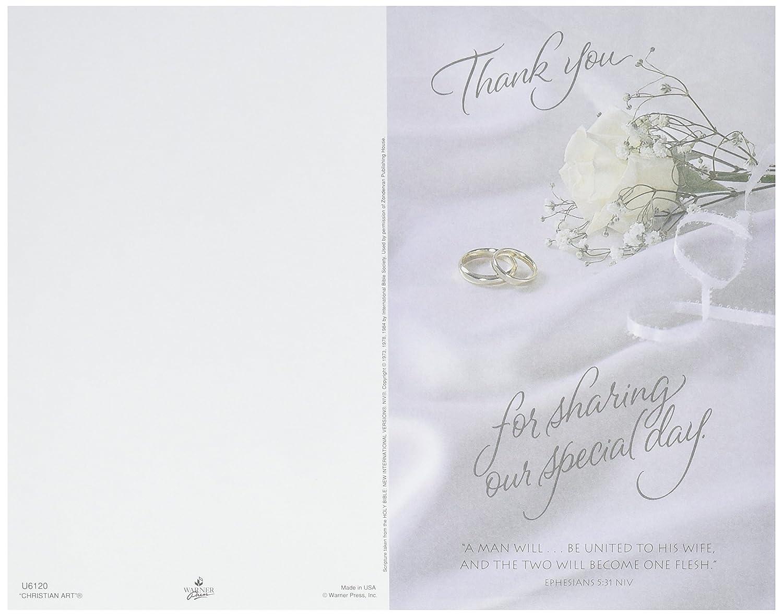 100-Pack Darice VL6120 Thank You for Sharing Wedding Program Card