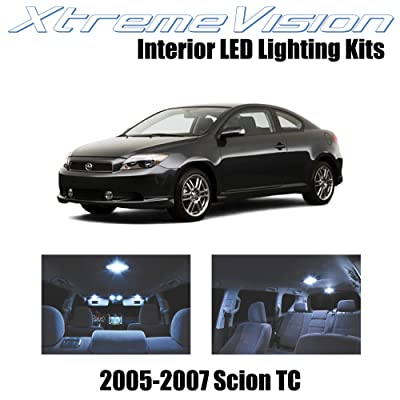 XtremeVision Interior LED for Scion TC 2005-2007 (10 Pieces) Cool White Interior LED Kit + Installation Tool: Automotive
