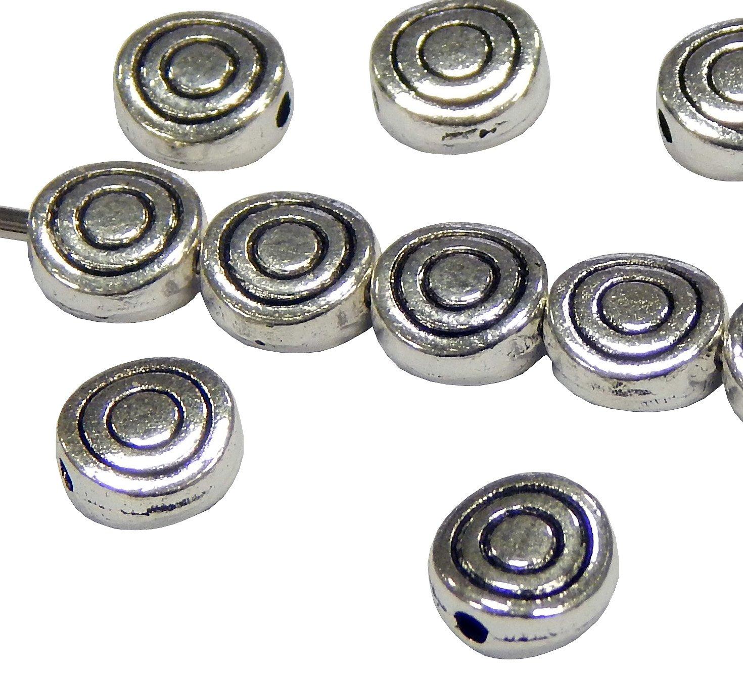 Metallperlen Metall 5 Zwischenteile Spacer basteln NEU