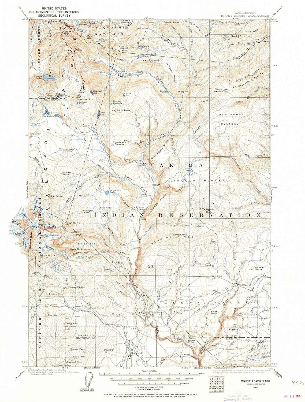 Mt Adams Washington Map.Amazon Com Washington Maps 1904 Mount Adams Wa Usgs Historical