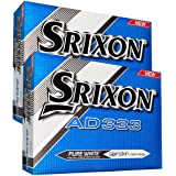 """NEW 2016"" SRIXON AD333 PURE WHITE GOLF BALLS DOUBLE DOZEN 24 BALL DISCOUNT PACK"