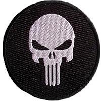 """Écusson Punisher Crane ARMY US Patch Badge Brodé ecusson applique accessoire militaire vetement thermocollant """" Punisher r 7.8 cm """""""