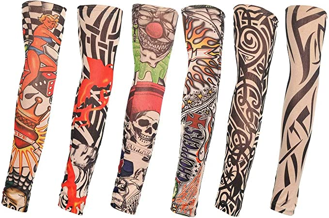 TAGVO Falsas Mangas de Tatuaje, 6pcs Moda Nylon Mangas del Brazo ...