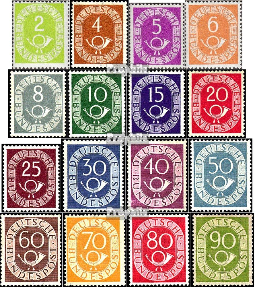 Prophila Collection BRD (BR.Deutschland) 123-138 (kompl.Ausg.), geprüft mit Attest 1951 Posthorn (Briefmarken für Sammler)