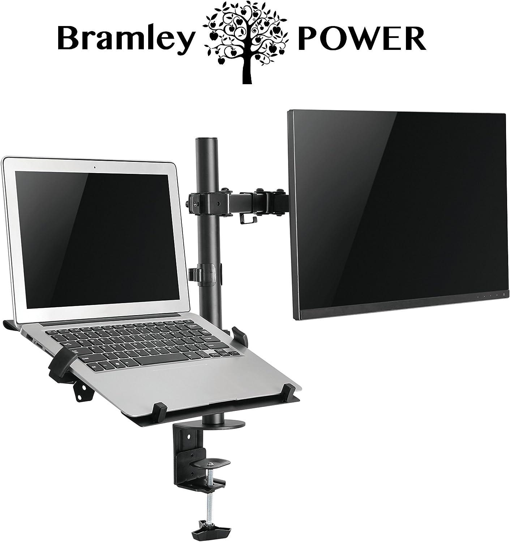 Bramley Power Dual Monitor Screen Brazo de montaje en escritorio Soporte VESA doble para pantalla o computadora de 13