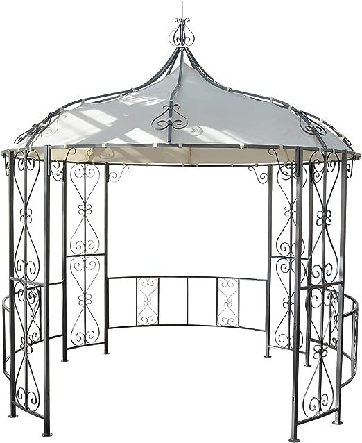 Pergola Almeria, rundpavi llon Cenador, Estructura Estable de Acero Diámetro 3 m: Amazon.es: Jardín