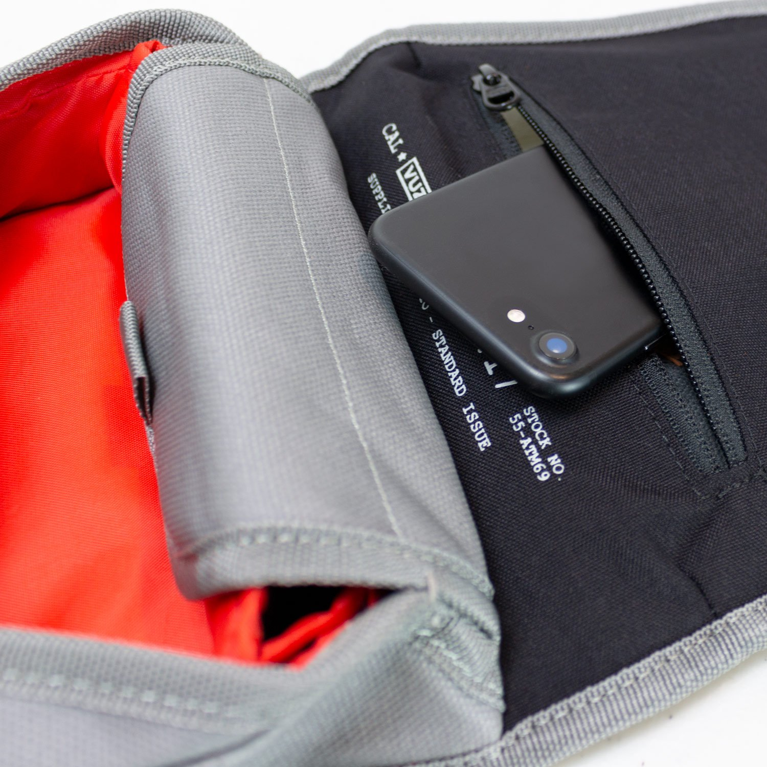 Multiple Compartments and Leather Handcrafted Finish Vuz Moto Mini Tank Bag with Phone Window Magnet Mounting System