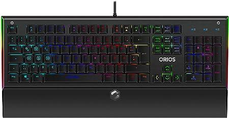 SpeedLink Orios RGB - Teclado opto-mecánico de gaming, color negro