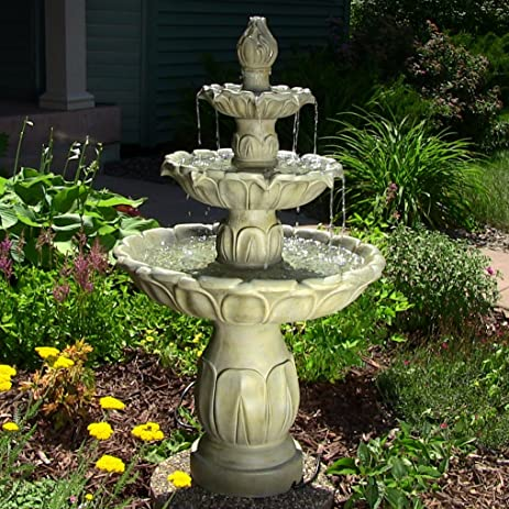 garden pineapple hayneedle fountain tiered product master outdoor welcome cfm